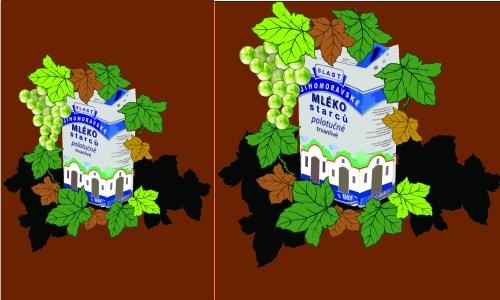 Detail návrhu Mléko starců