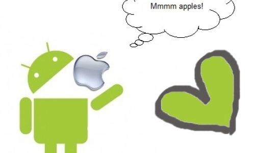 Detail návrhu Android love Applee