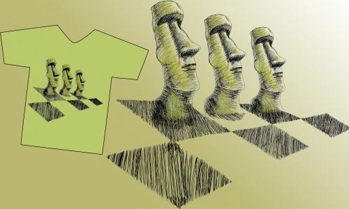 Detail návrhu velikonoční šachy
