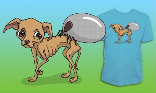 Detail návrhu chudokrevný pes