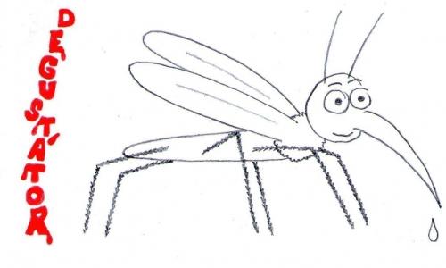 Detail návrhu komár - degustátor