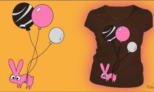 Detail návrhu Králík s balónky