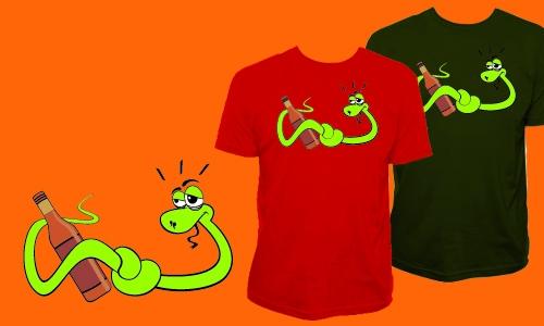 Detail návrhu Opilý had