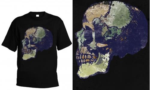 Detail návrhu Earth skull