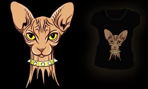 Detail návrhu ...Kočka..