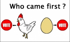 Who came first ?
