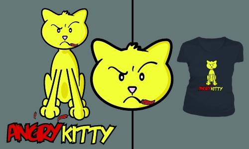 Detail návrhu Angry Kitty