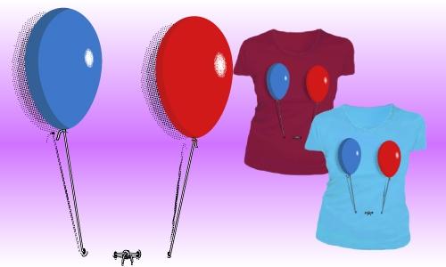 Detail návrhu Balónky