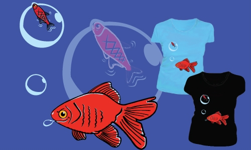 Detail návrhu Malá ryba