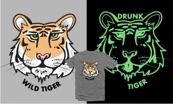 Detail návrhu Opilý tygr