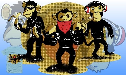Detail návrhu Tři gangstři