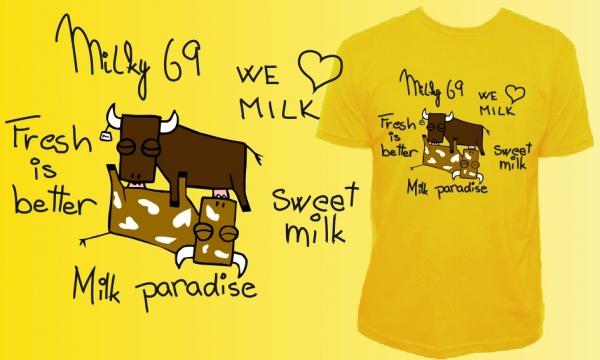 Detail návrhu Milky T-shirt