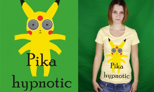 Detail návrhu Pika-hypnotic