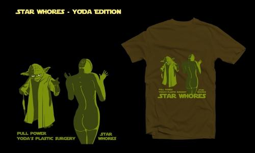 Detail návrhu Star Whores : Yoda edition