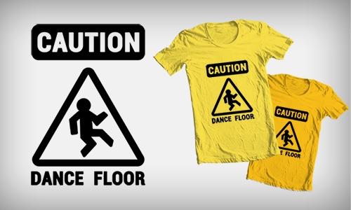 Detail návrhu CAUTION: DANCE FLOOR