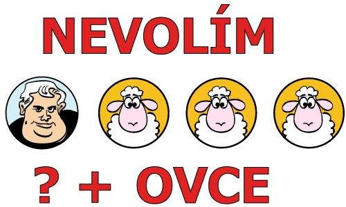 Detail návrhu Nevolím ovce