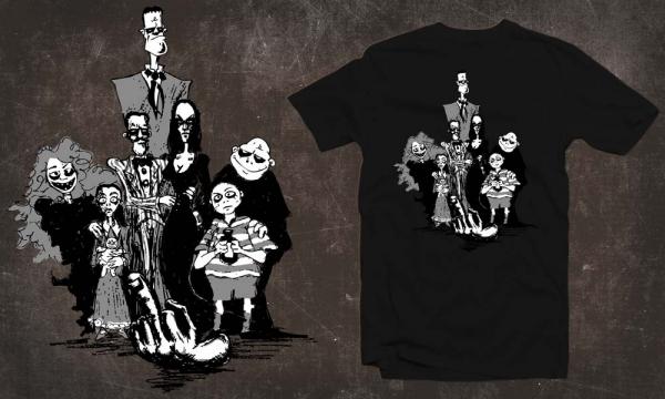 Detail návrhu Addams Family