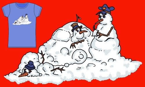 Detail návrhu Sněhuláci