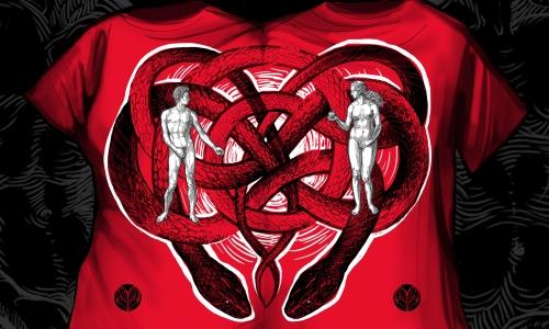 Detail návrhu Adam a Eva