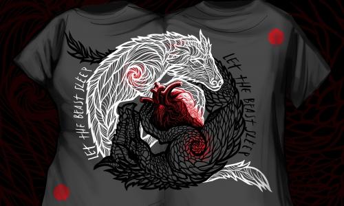 Detail návrhu Jing-Jang beasts