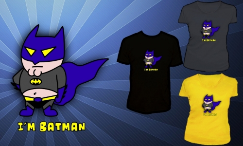 Detail návrhu Jsem batman