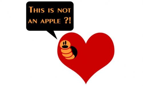 Detail návrhu Not an apple