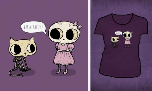 Detail návrhu Hello Kitty