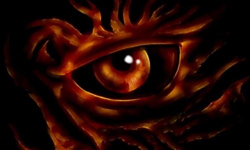 Detail návrhu Oko demona