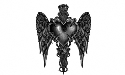 Detail návrhu Srdce a dika