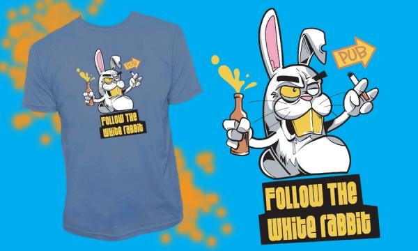 Detail návrhu Follow the White rabbit