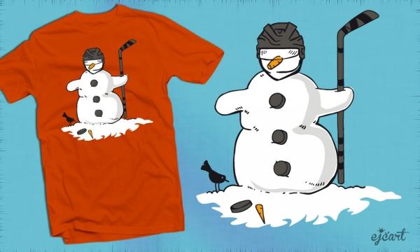 Detail návrhu HOCKEY-snowman