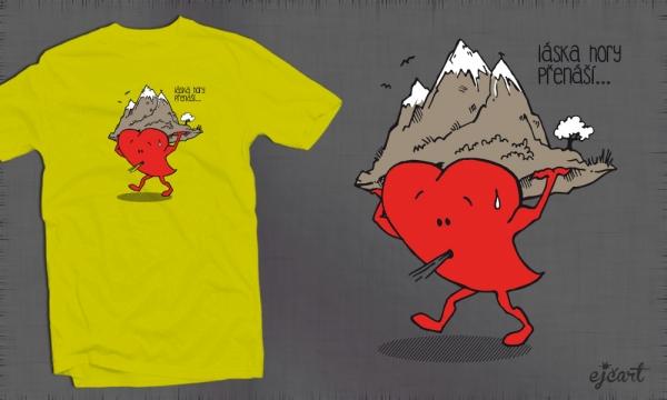 Detail návrhu Láska hory přenáší
