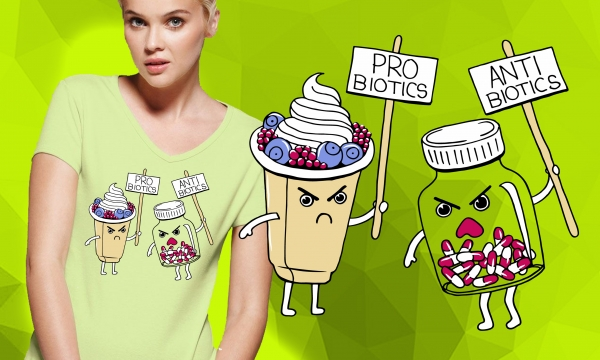 Detail návrhu Probiotiká verzus antibiotiká