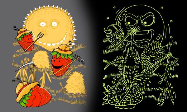 Detail návrhu Slunce, seno, jahody !