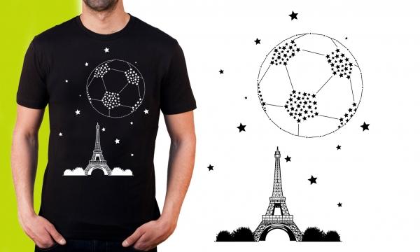 Detail návrhu Souhvězdí fotbalového míče