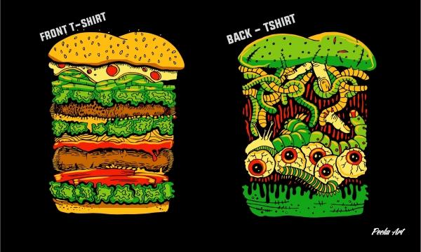 Detail návrhu Zombie Burger