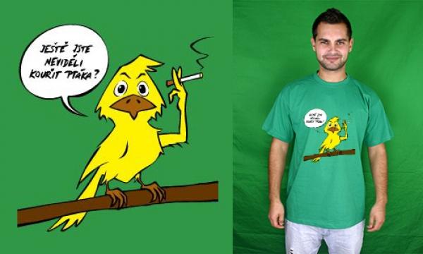 Detail návrhu Ještě jste neviděli kouřit ptáka?