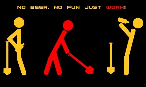 Detail návrhu No beer No fun