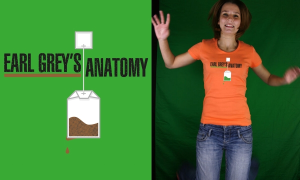 Detail návrhu Earl Grey's Anatomy