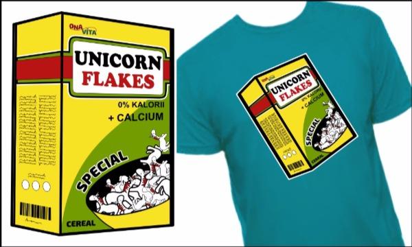 Detail návrhu unicorn flakes