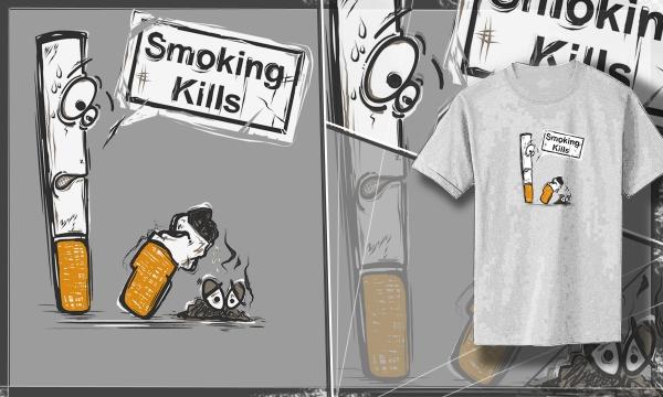 Detail návrhu Smoking Kills ver. 2