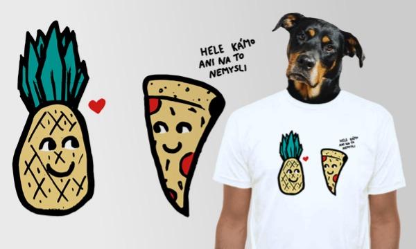 Detail návrhu Pizza a ananas