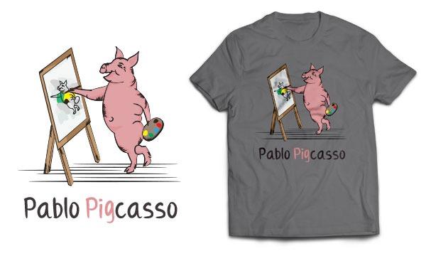 Detail návrhu Pablo Pigcasso