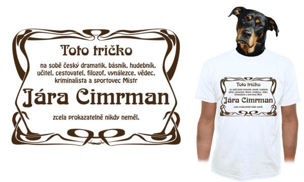 Detail návrhu Tričko Járy Cimrmana