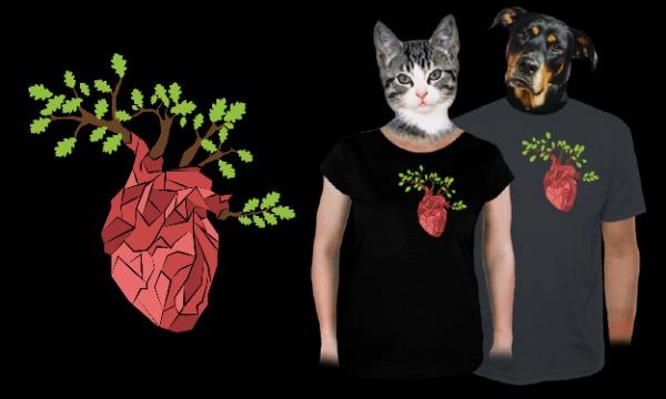 Detail návrhu Rozkvétající srdce