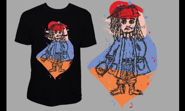 Detail návrhu Jack Sparrow