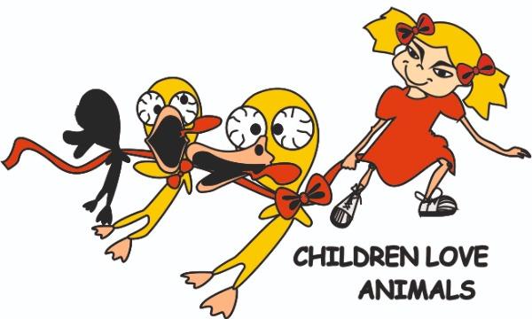 Detail návrhu děti milující zvířátka