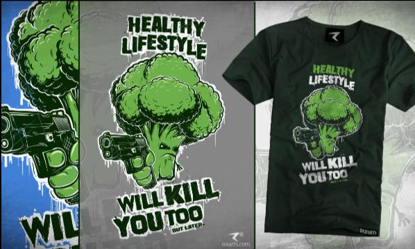 Detail návrhu Healthy Lifestyle