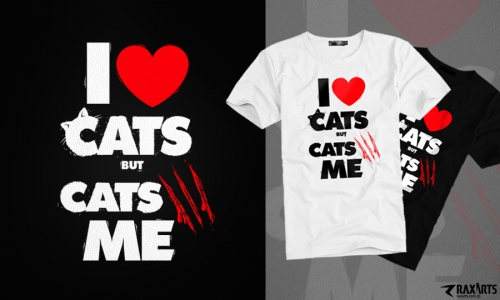 Detail návrhu I love Cats