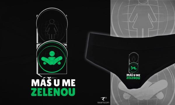 Detail návrhu Máš u mě zelenou - Kalhotky
